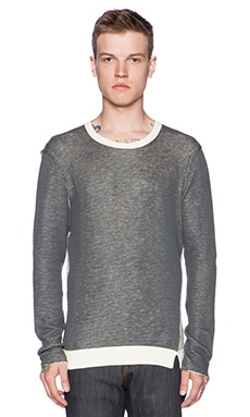 Joe's Jeans Double Sweater Knit in Heather Grey Natural