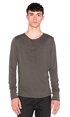 Joe's Jeans Sira Long Sleeve Henley Luxe Sweater Knit in Smoke