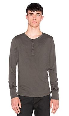 Joe's Jeans Sira Long Sleeve Henley Luxe Sweater Knit in Smoke