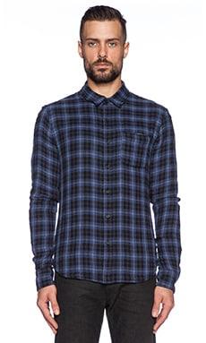 Joe's Jeans Reversible Plaid Double Woven in Blue & Black Plaid