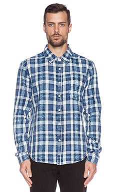 Joe's Jeans Blue Spotted Plaid in Blue White
