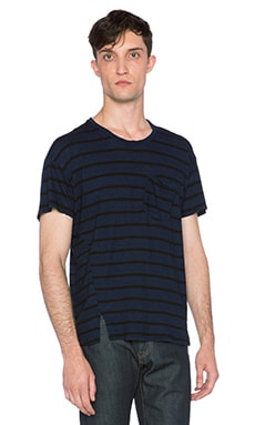 Joe's Jeans Arrie Crew Notch Tee in Dark Blue