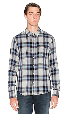 Joe's Jeans Slim Fit Shirt Double Woven Plaid in Heather Cascade