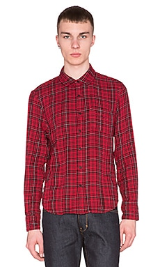 Joe's Jeans Double Woven Plaid in Red Plaid
