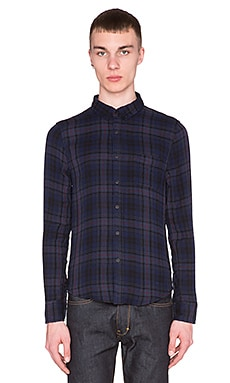 Joe's Jeans Double Woven Plaid in Navy Grey