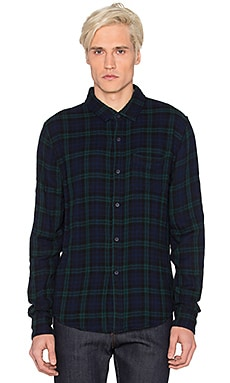 Joe's Jeans Double Woven Plaid Shirt in Hunter Plaid
