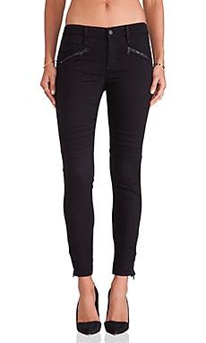 Joe's Jeans Chevron Ankle Legging in Jet Black
