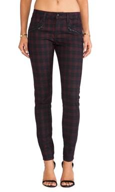Joe's Jeans Inline Zip Skinny in Coated Plaid