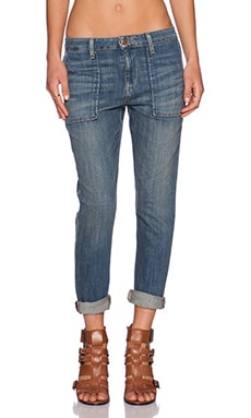 Joe's Jeans The Riveter Crop in Navi