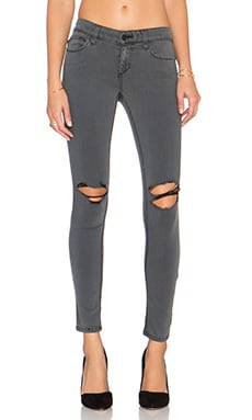 Joe's Jeans Adie Flawless The Vixen Ankle Skinny in Faded Black Distressed