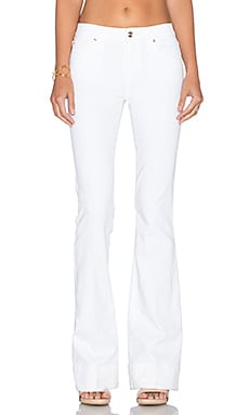 Joe's Jeans Marlie Play Dirty Stay Spotless The Icon Flare in Optic White
