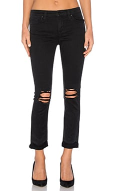 Joe's Jeans Vyola The Markie Crop in Black Distressed