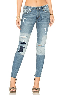 Collector's Edition The Icon Ankle Skinny en Indigo Discharged Block Treatment