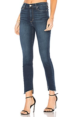 The Charlie High Rise Ankle Skinny in Dark Blue