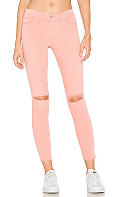 The Icon Mid Rise Super Skinny in Coral