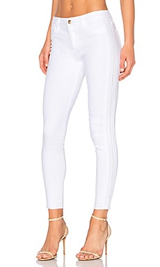 The Icon Mid Rise Ankle Skinny in Optic White