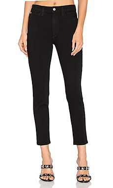 The Charlie High Rise Crop Skinny in Black