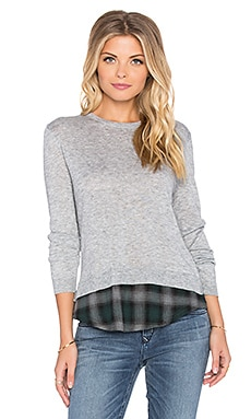 Joe's Jeans Azure Sweater in Heather & Plaid