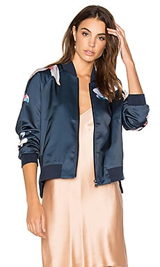 Elsie Bomber Jacket in Navy