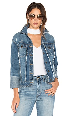 The Belize Denim Jacket in Distressed Medium Blue