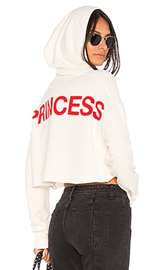 x Taylor Hill Cropped Princess Hoodie