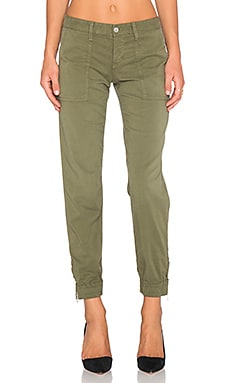 Joe's Jeans Edita Flight Zip Ankle Jogger in Dark Olive