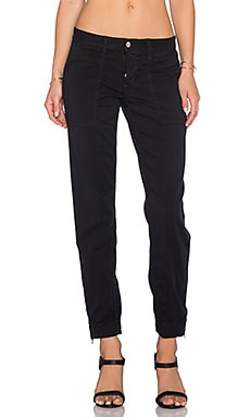 Joe's Jeans Edita Flight Zip Ankle Jogger in Jet Black