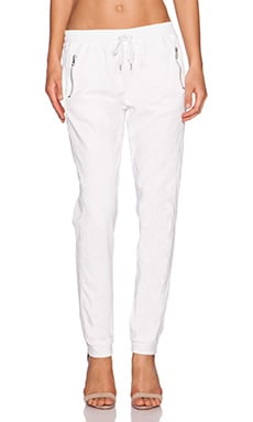 Joe's Jeans Karlie Street Zip Slim Jogger in Optic White