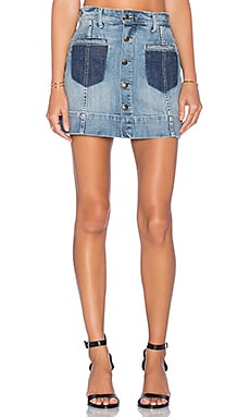 Joe's Jeans Rina Collector's Edition Pixie A-Line Skirt in Light Blue