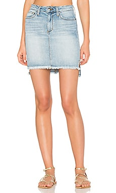 High Low Denim Skirt in Light Blue