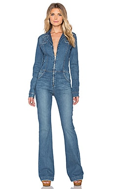 Joe's Jeans Fallon Studio Flare Jumpsuit in Powder Blue