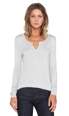 Joe's Jeans Mara Henley in Heather Grey