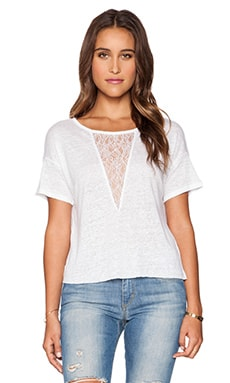 Joe's Jeans Triangle Lace Tee in White