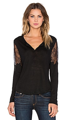 Joe's Jeans Ginelle Long Sleeve Tee in Black