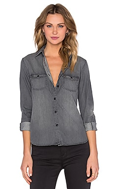 Joe's Jeans Grey Denim Ash Button Up in Ash Grey