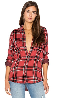 Thatcher Button Up in Onyx & Ruby