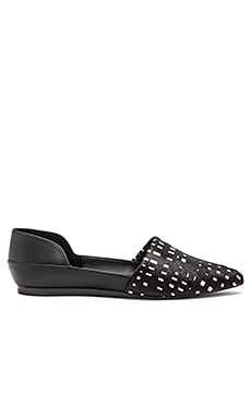 Heat Calf Hair Flat in Graphic Black