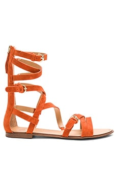Teddy Sandal in Orange