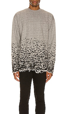 Burn Out Mock Neck Sweatshirt JOHN ELLIOTT $268 BEST SELLER