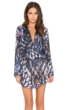 Johanne Beck Judy Wrap Dress in Midnight Jungle