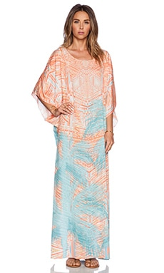 Johanne Beck Lizzy Boat Neck Kaftan in Miami Palms