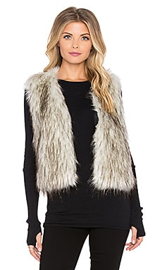 Johanne Beck Lucia Faux Fur Vest in Silver Fox