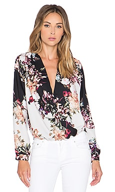 Johanne Beck Monica Wrap Front Top in Sicillian Garden