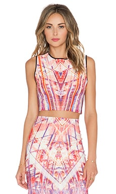 Johanne Beck Lindsey Crop Top in Geo Grapefruit