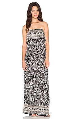 Joie Gilmore Maxi Dress in Caviar & Sandstone