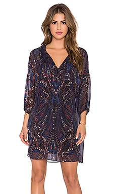 Joie Aggi Long Sleeve Dress in Deep Sapphire