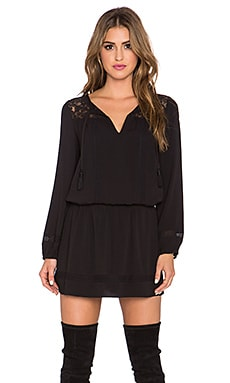 Joie Linza Long Sleeve Dress in Caviar