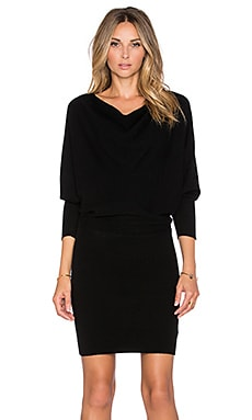 Athel B Sweater Dress in Caviar