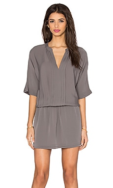 Joie Georgette Bessia 3/4 Sleeve Dress in Steel