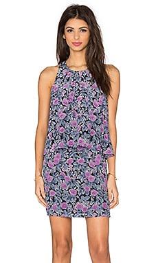 Joie Everla Floral Dress in Caviar & Shadow Lily